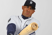 Carlos Guillen #9 of the Detroit Tigers poses for a portrait during Photo Day on February 21, 2011 at Joker Marchant Stadium in Lakeland, Florida.