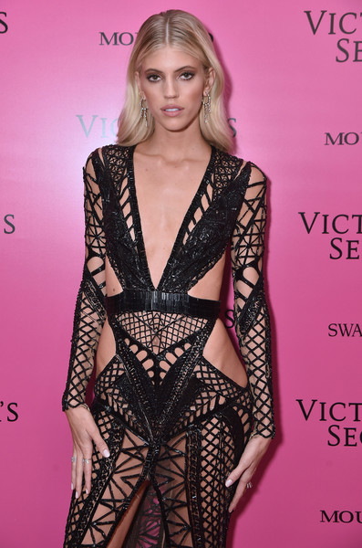 2017 Victoria's Secret Fashion Show In Shanghai - After Party [fashion model,clothing,fashion,hairstyle,beauty,dress,blond,long hair,model,lip,shanghai,china,mercedes-benz arena,party,devon windsor,victorias secret fashion show]