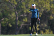 Lydia Ko of New Zealand lines up a putt on the 17th hole during the first round of the Diamond Resorts Tournament of Champions at Tranquilo Golf Course at Four Seasons Golf and Sports Club Orlando on January 17, 2019 in Lake Buena Vista, Florida.
