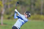 Lydia Ko of New Zealand hits her tee shot on the fifth hole during the second round of the Diamond Resorts Tournament of Champions at Tranquilo Golf Course at Four Seasons Golf and Sports Club Orlando on January 18, 2019 in Lake Buena Vista, Florida.