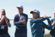 Lydia Ko of New Zealand hits her tee shot on the 18th hole during the first round of the Diamond Resorts Tournament of Champions at Tranquilo Golf Course at Four Seasons Golf and Sports Club Orlando on January 17, 2019 in Lake Buena Vista, Florida.