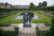 View of the statue of Diana, Princess of Wales, ahead of the first members of the public being allowed in to view it in the Sunken Garden at Kensington Palace on July 02, 2021 in London, England. July 1st would have been the 60th birthday of Princess Diana, who died in 1997. At a ceremony here yesterday, her sons Prince Harry, Duke of Sussex and Prince William, Duke of Cambridge, unveiled the statue, by sculptor Ian Rank-Broadley, in her memory.  Photo by Jonathan Brady-WPA Pool/Getty Images)