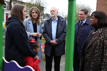 Diane Abbott Jeremy Corbyn Visits The Peckwater Estate To Meet Families Bereaved By Violent Crime