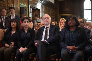 Diane Abbott Jeremy Corbyn Resumes the Election Campaign with Press Conference on Defence