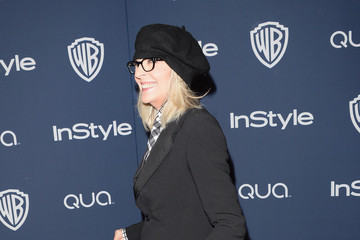 Diane Keaton Arrivals at the InStyle/Warner Bros. Golden Globes Party — Part 2