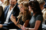 (L-R) Designer Eli Halili, Musician Sheryl Crow and model Janice Dickinson attends the Diane Von Furstenberg fashion show during Mercedes-Benz Fashion Week Spring 2014 at The Theatre at Lincoln Center on September 8, 2013 in New York City.
