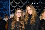 (L-R) Sea Louise Bensimon and Kelly Bensimon attend the Diane Von Furstenberg fashion show during Mercedes-Benz Fashion Week Fall 2014 at Spring Studios on February 9, 2014 in New York City.