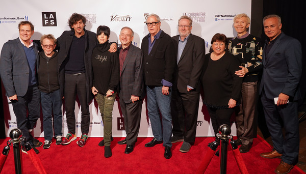 The Songwriters Hall Of Fame Presents A Conversation With 2019 Oscar-Nominated Songwriters [songwriters hall of fame presents a conversation with 2019 oscar,red carpet,event,carpet,premiere,flooring,team,songwriters,mike todd,shawn lemone,chris willman,paul williams,scott wittman,mary jo minella,l-r,songwriters hall of fame]