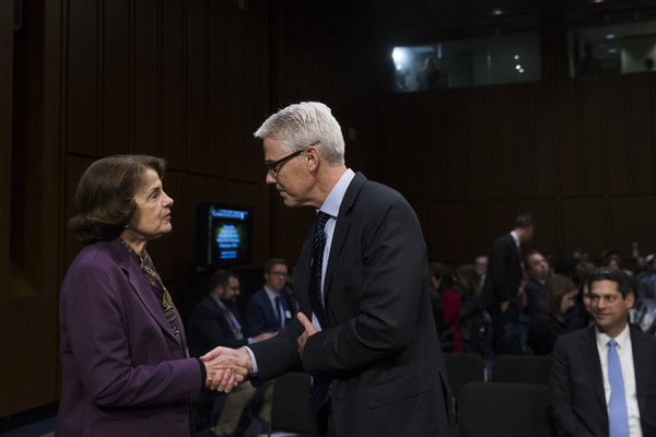 Dianne Feinstein and Colin Stretch Photos Photos - Facebook, Google