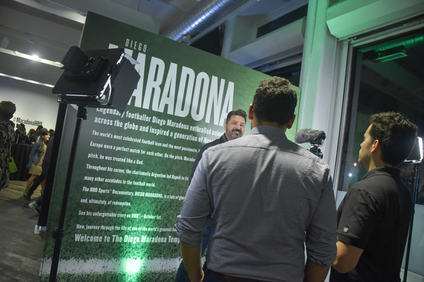 The Diego Maradona Temple Experience [green,event,poster,job,advertising,banner,diego maradona temple experience,new york city,guests]