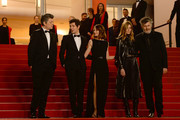 """(L-R) Benjamin Biolay, Vincent Lacoste, Camille Cottin, Chiara Mastroianni and Christophe Honore attend the screening of """"Diego Maradona"""" during the 72nd annual Cannes Film Festival on May 19, 2019 in Cannes, France."""