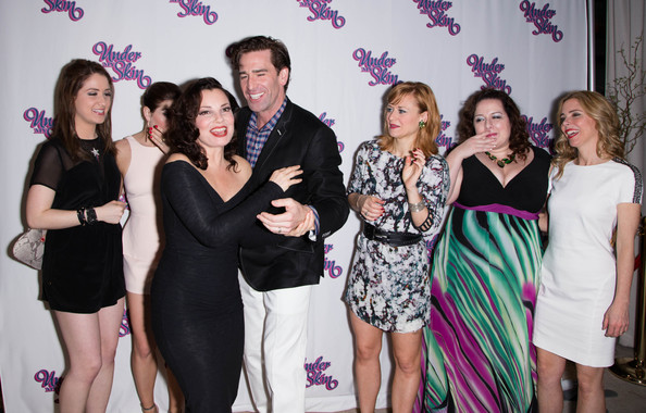 'Under My Skin' Opening Night [event,fashion,fun,party,dress,photography,formal wear,little black dress,smile,prom,under my skin,shubert theatre,actors,allison strong,kate loprest,megan sikora,dierdre friel,fran drescher,matt walton,kerry butler]