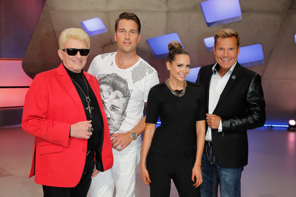 'Deutschland sucht den Superstar' Jury Photo Call [deutschland sucht den superstar,event,fashion,eyewear,vision care,jury,dj antoine,heino,dieter bohlen,germany,october 7,l-r,cologne,jury photocall]