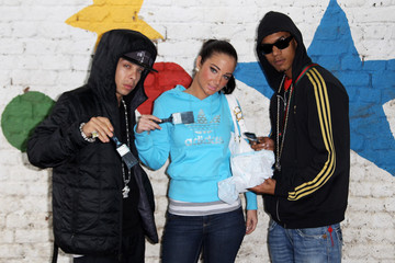 "Dino ""Dappy"" Contostavlos N-Dubz and Taio Cruz - RockCorps Photocall"