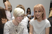 Kate Lanphear and Alison Veness attend the Dion Lee fashion show during Mercedes-Benz Fashion Week Spring 2015 at Hosfelt Gallery on September 6, 2014 in New York City.