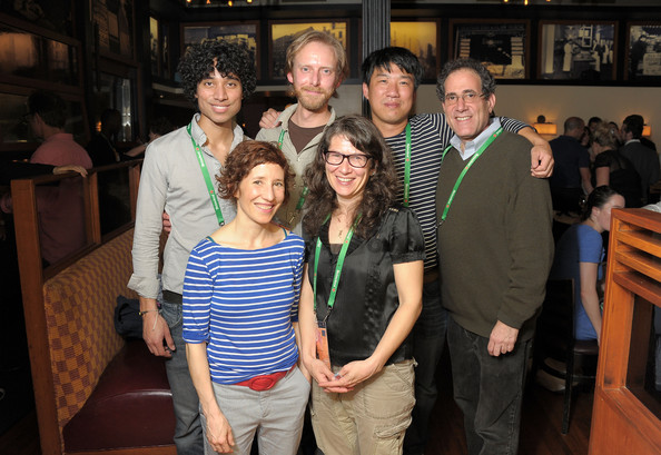 (L-R - top) Directors Brendon Kingsbury, Brian Doyle, Charles Lim, curator Jon Gartenberg, (L-R bottom) Marie Losier, Melissa Friedling attend Director's Brunch at The 2011 Tribeca Film Festival at City Hall Restaurant on April 25, 2011 in New York City.