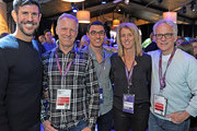 In this handout photo provided by Discovery Communications, (L-R) Discovery Channel President Rich Ross, Oscar winning director Rob Epstein, Discovery Impact Fellow Jeff Orlowski, Rory Kennedy and Discovery Channel Executive Vice President of Documentaries John Hoffman attend the Discovery Channel Reception during the 2016 Sundance Film Festival at The Shop on January 23, 2016 in Park City, Utah.