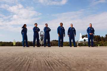Michael Barratt Discovery Shuttle Astronauts Arrive At Cape Canaveral Ahead Of Launch