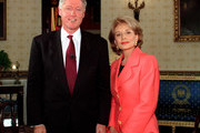 """ABC1(9/19/96)--20/20--In the second of her two-part profiles of the leading Presidential candidates, ABC News """"20/20"""" co-anchor Barbara Walters interviews President and Mrs. Bill Clinton on """"20/20,"""" FRIDAY, SEPTEMBER 20 (10:00-11:00 p.m., ET.)  In a far-ranging discussion, Mr. Clinton talks about recent events, including his policy toward Iraq, the departure of cosultant Dick Morris and the recently passed welfare reform bill.  The Clintons discuss how life in the White House has affected their family life,  including its impact on their daughter Chelsea.  Pictured here:  President Clinton and Barbara Walters at the Whitehouse."""