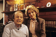 """20/20 - 3/25/82 .Barbara Walters interviewed James Brady on ABC News' """"20/20"""" airing on the ABC Television Network. .(Photo by ABC Photo Archives via Getty Images)  talent: .JAMES BRADY, BARBARA WALTERS"""