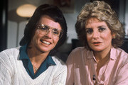 """20/20 - 5/5/81 .Barbara Walters interviewed tennis great Billie Jean King and her husband, Lawrence, on ABC News' """"20/20"""" airing on the ABC Television Network. .(Photo by ABC Photo Archives via Getty Images)  .BILLIE JEAN KING, BARBARA WALTERS"""