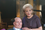"20/20 - 11/14/03 .ABC News' Barbara Walters interviewed actor/director Christopher Reeve about the latest remarkable developments in his rehabilitation, on ABC News' ""20/20"", airing Friday, Nov. 14 (10-11 p.m., ET) on the ABC Television Network..(Photo by Virginia Sherwood/ABC via Getty Images) CHRISTOPHER REEVE, BARBARA WALTERS"