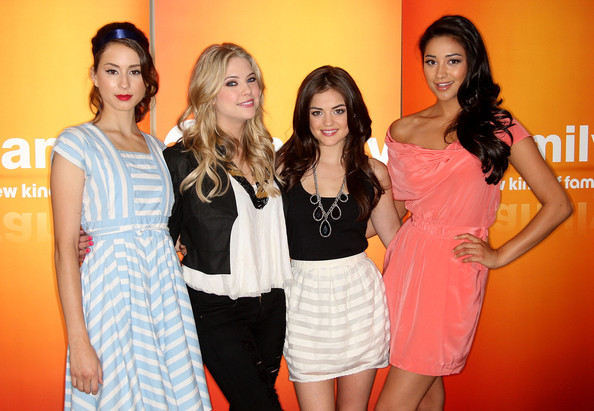 Meet the stylish cast of pretty little liars lucy hale zimbio shaymitchell in disney abc television group summer press junket m4hsunfo
