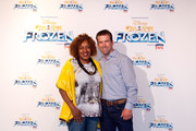 (L-R) Actors CCH Pounder and Lucas Black attend Disney On Ice presents Frozen Presented by Stonyfield YoKids Organic Yougurt at UNO Lakefront Arena on April 30, 2015 in New Orleans, Louisiana.