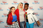 Isabella Newhuis, Tori Spelling and Alex Allen attend Disney On Ice Presents Mickey's Search Party Holiday Celebrity Skating Event at Staples Center on December 13, 2019 in Los Angeles, California.