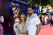 "Kate Wright and Rio Ferdinand attend the European premiere of Disney and Pixar's ""Toy Story 4"" at the Odeon Luxe Leicester Square on June 16, 2019 in London, England."