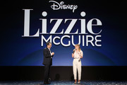 (L-R) Kenny Ortega and Hilary Duff of 'Lizzie McGuire' took part today in the Disney+ Showcase at Disney's D23 EXPO 2019 in Anaheim, Calif.  'Lizzie McGuire' will stream exclusively on Disney+, which launches November 12.