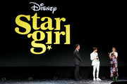 (L-R) President of Walt Disney Studios Motion Picture Production Sean Bailey, and Graham Verchere and Grace VanderWaal of 'Stargirl' took part today in the Disney+ Showcase at Disney's D23 EXPO 2019 in Anaheim, Calif.  'Stargirl' will stream exclusively on Disney+, which launches November 12.