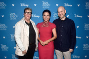 (L-R) Producer Kori Rae, Julia Louis-Dreyfus, and Director Dan Scanlon of 'Onward' took part today in the Walt Disney Studios presentation at Disney's D23 EXPO 2019 in Anaheim, Calif.  'Onward' will be released in U.S. theaters on March 6, 2020.