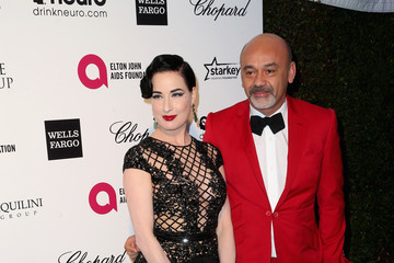 Dita Von Teese Arrivals at the Elton John AIDS Foundation Oscars Viewing Party — Part 4