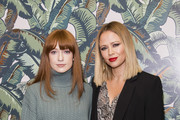 Nicola Roberts and Kimberley Walsh attend a performance by Dita Von Teese and The Copper Coupe at The Box Soho on November 14, 2018 in London, England.