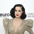 Dita Von Teese Neuro Brands Presenting Sponsor At The Elton John AIDS Foundation's Academy Awards Viewing Party