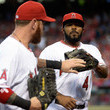 Howie Kendrick and Josh Hamilton Photos