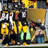 Antonio Brown Martavis Bryant Photos - Martavis Bryant #10 of the Pittsburgh Steelers celebrates with teammates after a 36 yard touchdown reception in the second quarter during the AFC Divisional Playoff game against the Jacksonville Jaguars at Heinz Field on January 14, 2018 in Pittsburgh, Pennsylvania. - Divisional Round - Jacksonville Jaguars v Pittsburgh Steelers