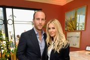 Brendan Fitzpatrick (L) and Morgan Stewart attend the Dolce & Gabbana Light Blue Italian Zest Launch Event at the NoMad Hotel Los Angeles on May 17, 2018 in Los Angeles, California.