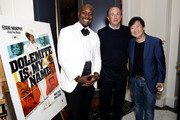 Tyrese Gibson, John Davis and Ken Jeong attend the 'Dolemite Is My Name' John Davis Hosted Tastemaker at a Private Residence on November 19, 2019 in Beverly Hills, California.