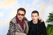 """Robert Downey Jr and Tom Holland attend the """"Dolittle"""" special screening at Cineworld Leicester Square on January 25, 2020 in London, England."""