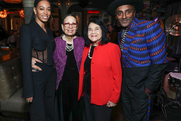 Dolores Huerta Solange Attends Private Dinner In Honor Of Her Receiving The Lena Horne Prize