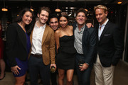 Diane Barone, Matthew Morrison, Eric Podwall, Greg Calejo and Daniel Benedict attend the Dom Perignon and Eric Podwall celebration of the evening before The White House Correspondents' Dinner at Fiola Mare on May 2, 2014 in Georgetown, Washington.