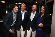 Greg Calejo, Daniel Benedict, Andrew Saffir and Diane Barone attend the Dom Perignon and Eric Podwall celebration of the evening before The White House Correspondents' Dinner at Fiola Mare on May 2, 2014 in Georgetown, Washington.