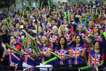 Dominic Inglot Great Britain v Uzbekistan - Davis Cup by BNP Paribas World Group Play Offs: Day Two