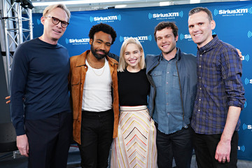 Donald Glover Emilia Clarke SiriusXM's Town Hall With The Cast Of 'Solo: A Star Wars Story'