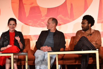 Donald Glover Phoebe Waller-Bridge STARS Stars And Filmmakers Hold L.A. Press Conference For 'SOLO: A Star Wars Story'