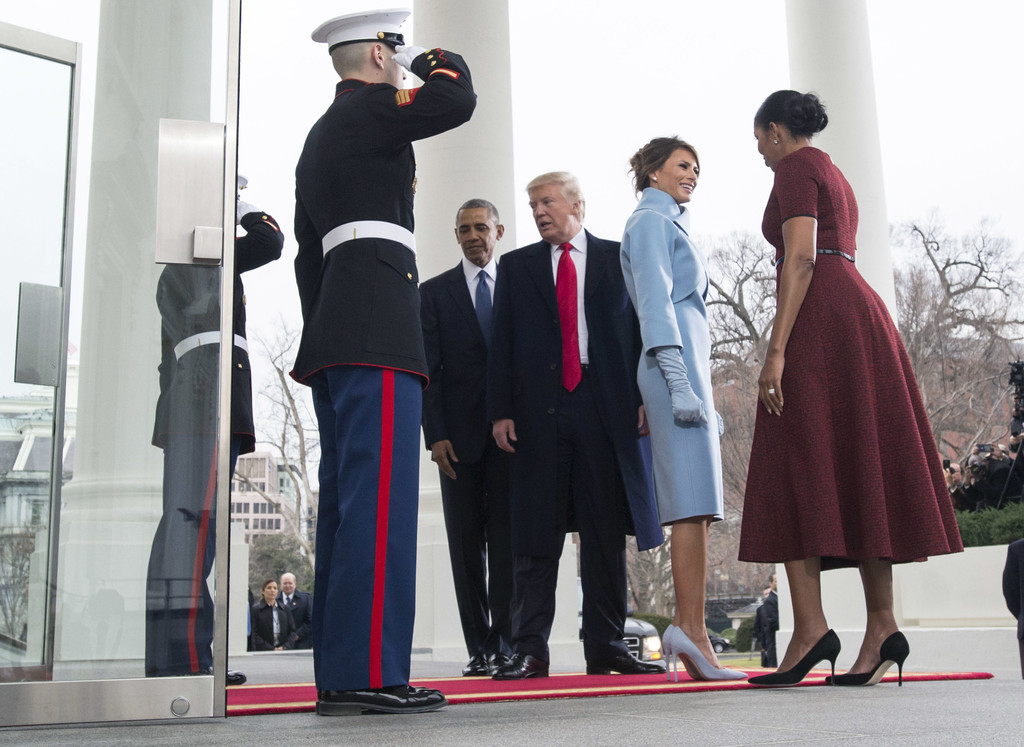 Michelle Photos Donald And Melania Trump Arrive At White House Ahead Of Inauguration Zimbio