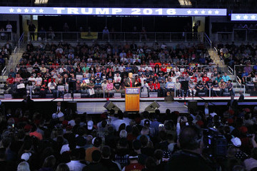 Donald Trump Donald Trump Holds Rally With Former Basketball Coach Bobby Knight