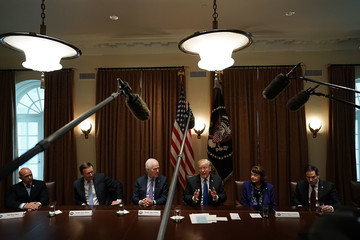 Donald Trump Marco Rubio President Trump Holds Meeting With Bipartisan Congress Members To Discuss School Safety